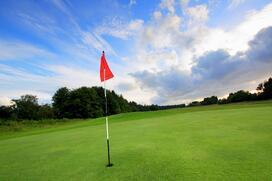 australia golf course flag 123rf
