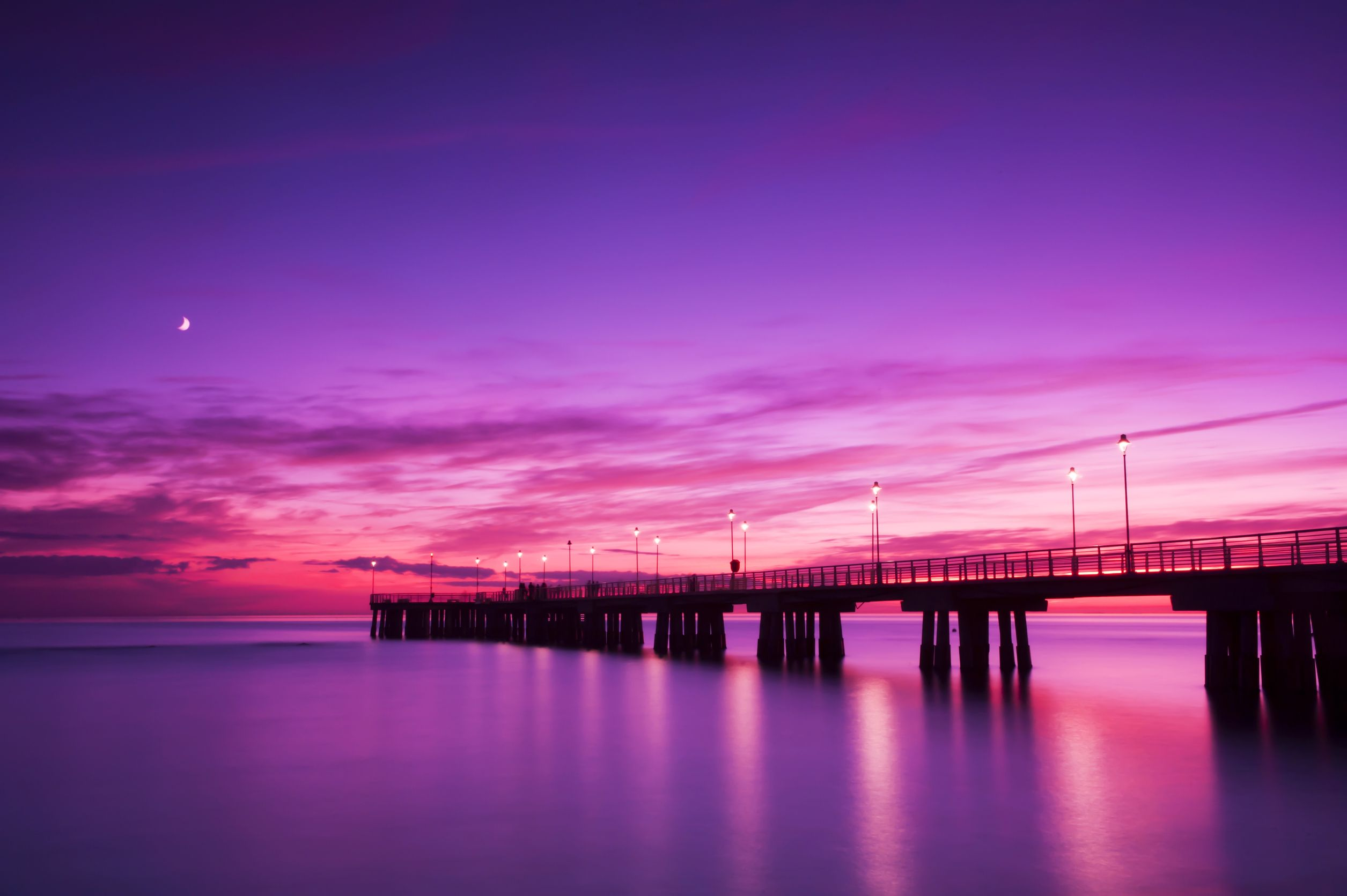 australia sunset dock 123rf