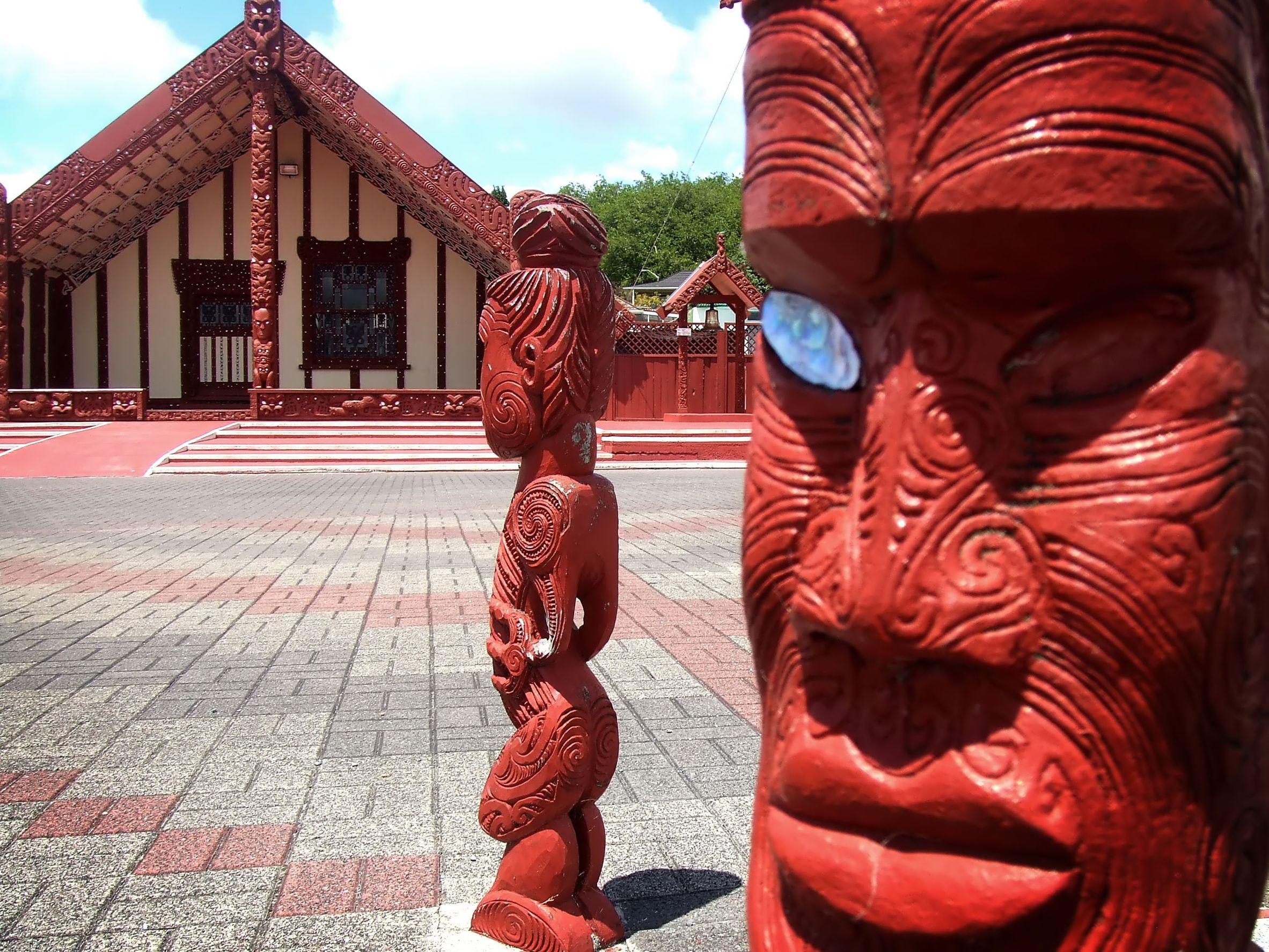 new zealand maori statues 123rf