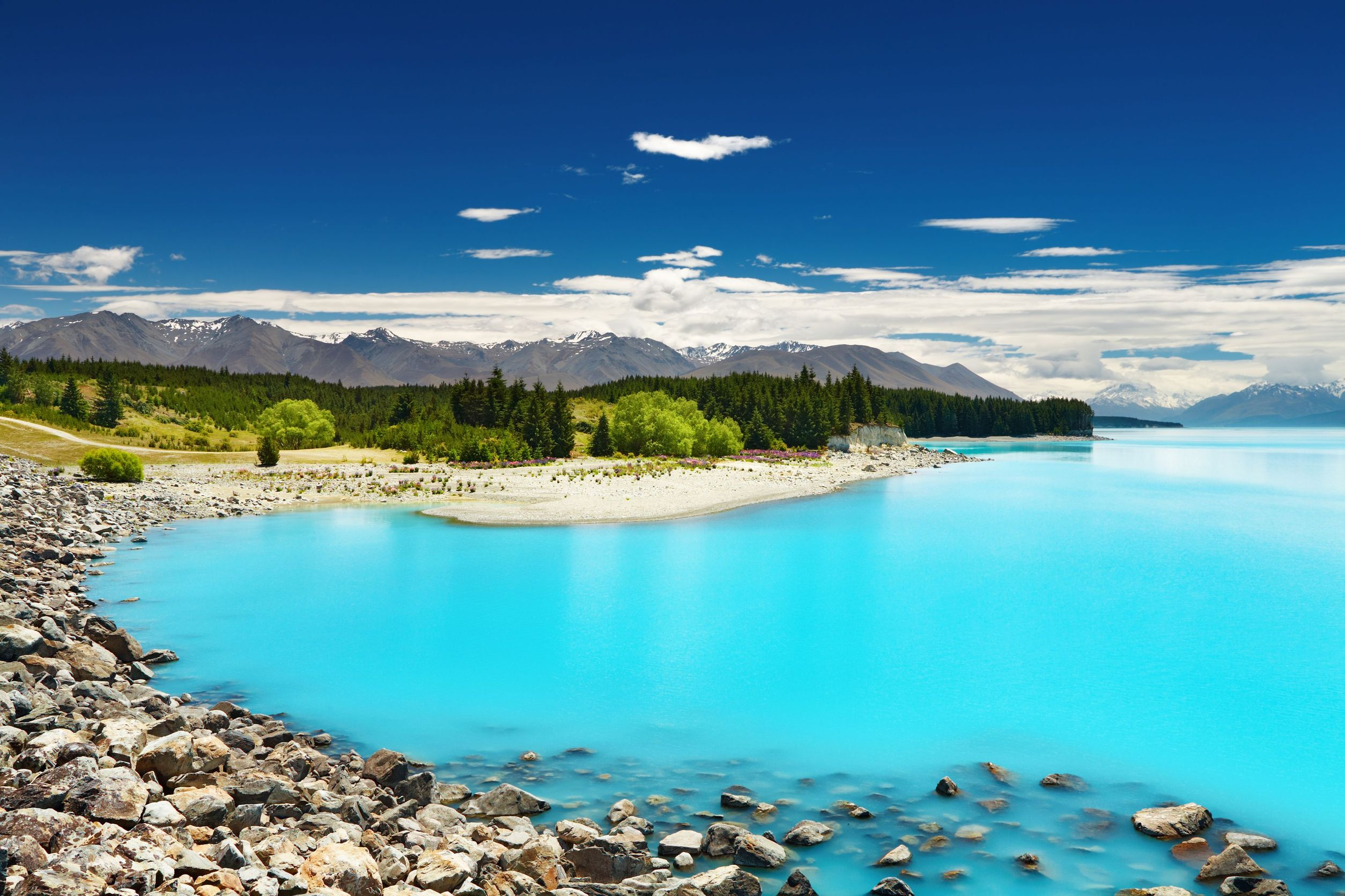 new zealand pure blue lake 123rf