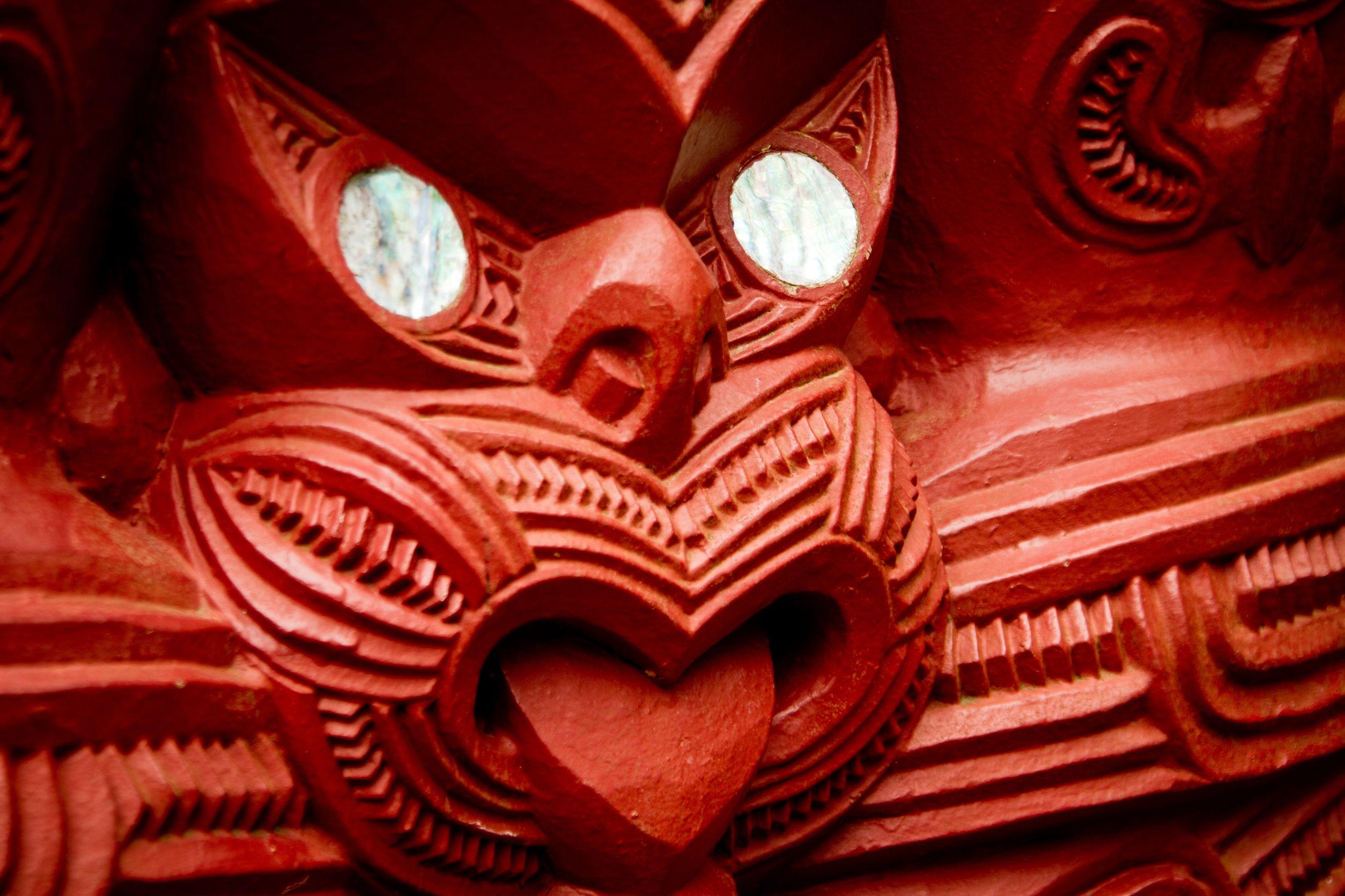 maori tongue face new zealand 123rf