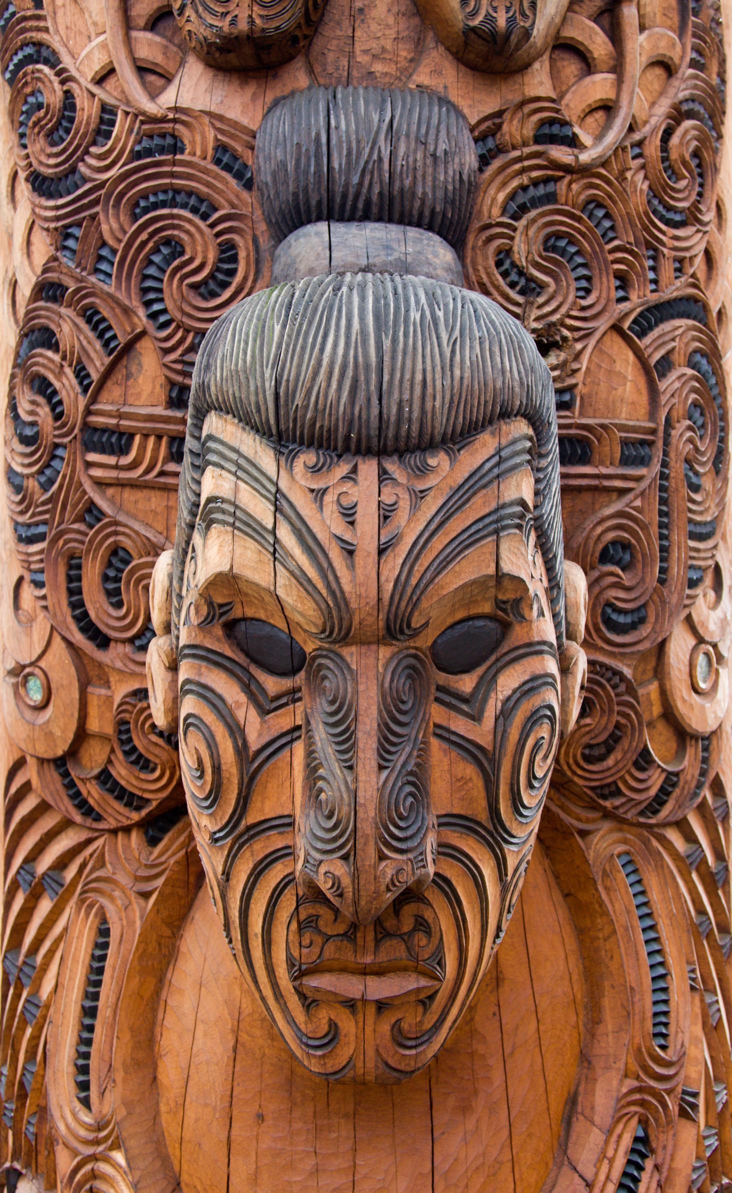 new zealand maori carving head thinkstock
