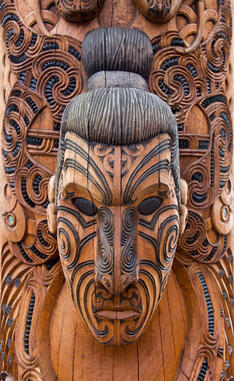 new zealand maori carving head thinkstock