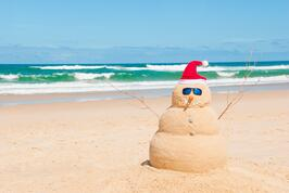 australia beach snowman 123rf