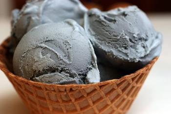 Black-licorice ice cream