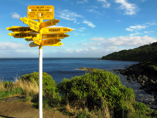 Bluff, a port city at the southern tip of New Zealand
