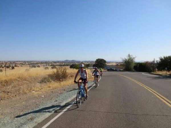 Cyling for charity through central California