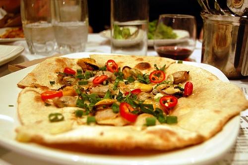 Clam pizza pie