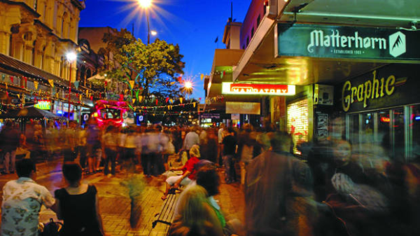 Cuba Street with the Matterhorn in the foregront