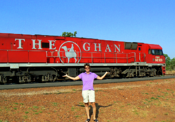 The famed Ghan, and nearly famous Molly Evans
