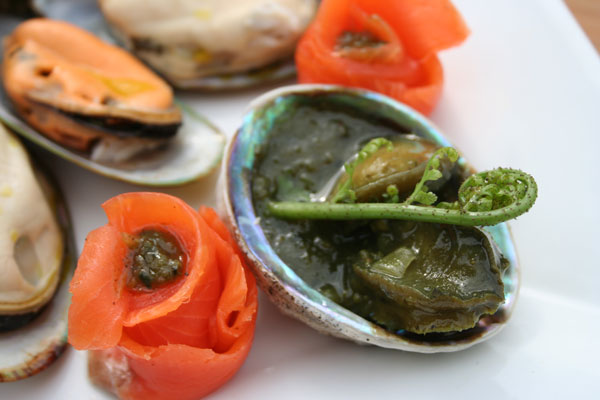 Gourmet Abalone with Fiddlehead