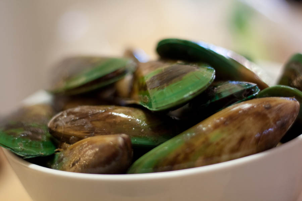Famed green-lipped mussels
