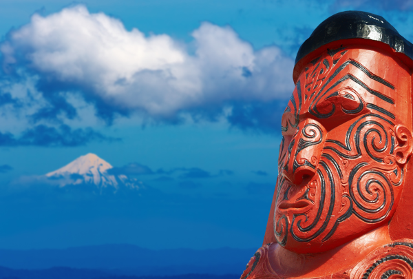 A traditional Maori carving