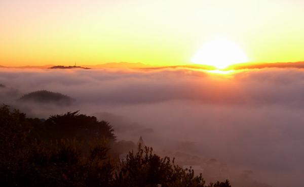 Sunrise, Mt. Victoria in Wellington