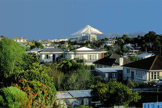 New Plymouth, the capital of the Taranaki Region