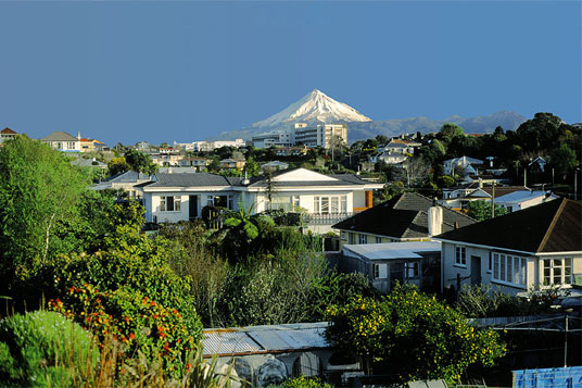 New Plymouth, the capital of the Taranaki Region