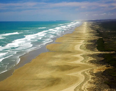 90 Mile Beach on the North Island, NZ