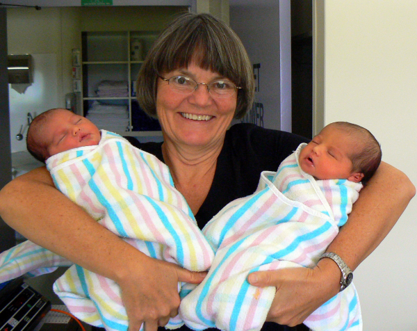 Dr. Starkey delivered twin Australian girls just before the New Year