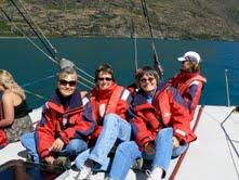 Dr. Starkey on America's Cup yacht