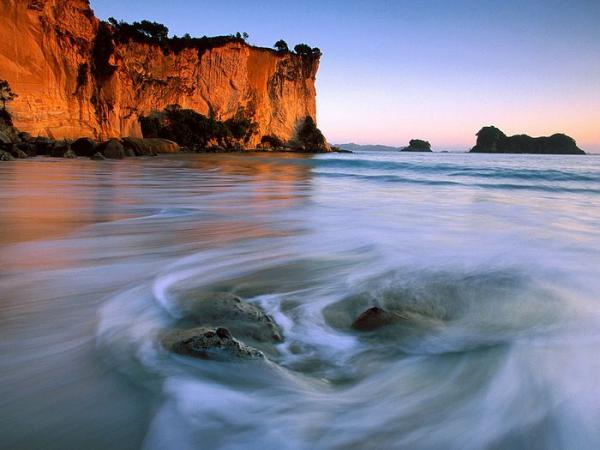 Shiprock Beach, New Zealand