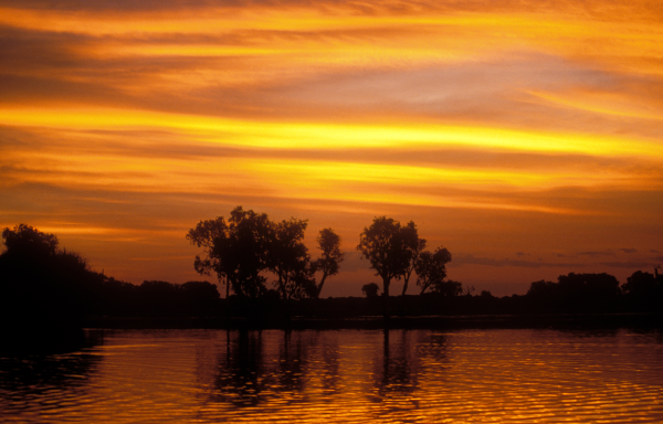 Sunset over Yellow Water Lagoon, Kakadu