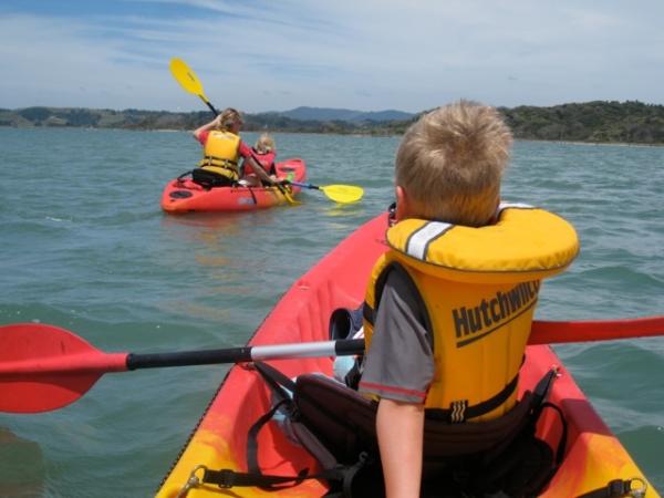 kayaking Ohiwa Harbour
