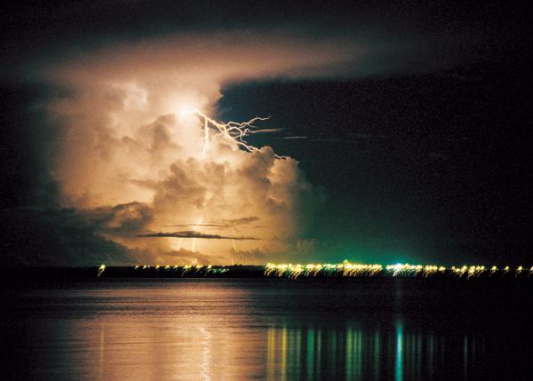 A wet season storm over Darwin