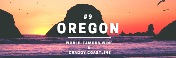 oregon-world-famous wine and craggy coastline