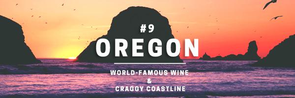 oregon-world-famous wine and craggy coastline